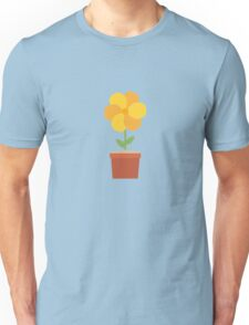 Yellow flower in the pot   Unisex T-Shirt