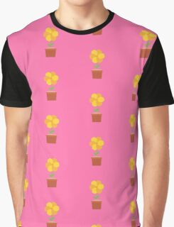 Yellow flower in the pot   Graphic T-Shirt