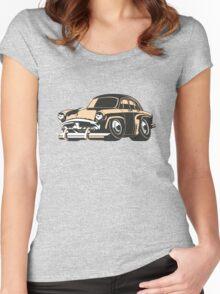 Cartoon retro car Women's Fitted Scoop T-Shirt