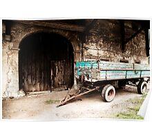 Vintage Wagon and Barn  Poster