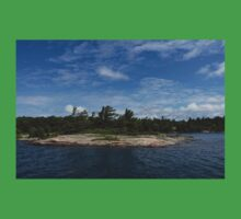 An Island of Pink Granite - Georgian Bay Canadian Landscapes One Piece - Short Sleeve