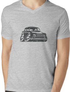 Cartoon retro car Mens V-Neck T-Shirt