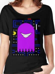 Retro Pac Man Monster Gamin Smile Women's Relaxed Fit T-Shirt