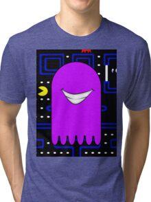 Retro Pac Man Monster Gamin Smile Tri-blend T-Shirt