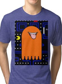 Retro Pac Man Monster Tri-blend T-Shirt