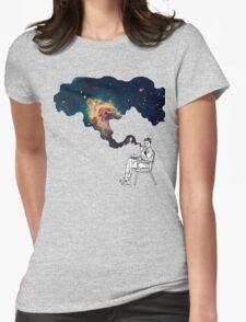 Galaxy Smoke Womens Fitted T-Shirt