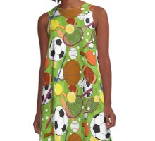 Sport ball seamless pattern A-Line Dress