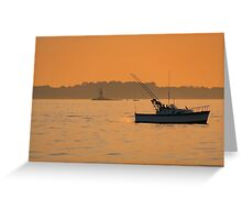 Fishing The Evening Tide Greeting Card