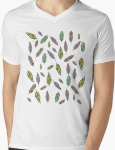 Many Feathers - Feather  Mens V-Neck T-Shirt