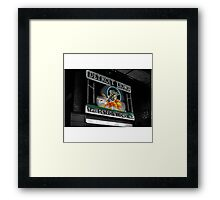 Fluorescent Detroit Framed Print
