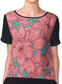 Seamless Floral Ornamental Pattern Chiffon Top