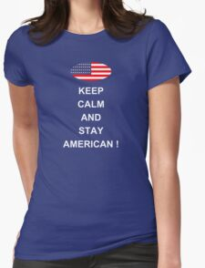 stay american Womens Fitted T-Shirt