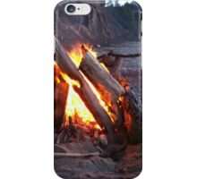 Bonfire at Sunset Beach iPhone Case/Skin