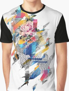 Distorted still life of the flower and the bird Graphic T-Shirt