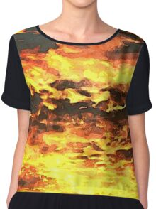 Fire in the Sky Chiffon Top