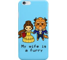 Furry Belle and the Beast iPhone Case/Skin