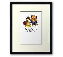 Furry Belle and the Beast Framed Print
