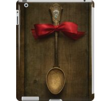 Red bow and ornamented spoon iPad Case/Skin
