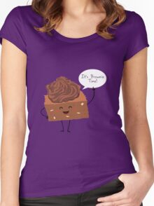 BROWNIE TIME! Women's Fitted Scoop T-Shirt