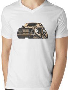 Cartoon car Mens V-Neck T-Shirt