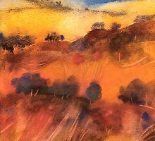 Colline toscane sotto il cielo turchino by Alessandro Andreuccetti