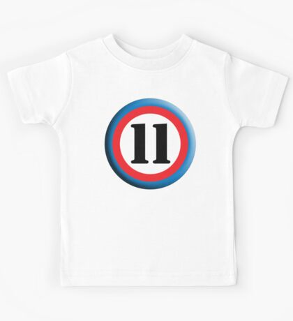 11, Eleven, Eleventh, ROUNDEL, TEAM SPORTS, NUMBER 11, Competition Kids Tee