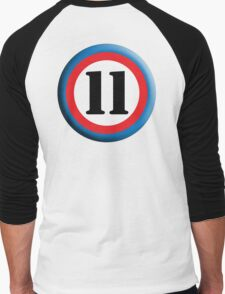 11, Eleven, Eleventh, ROUNDEL, TEAM SPORTS, NUMBER 11, Competition Men's Baseball ¾ T-Shirt