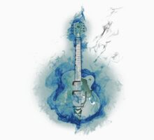 Guitar in Blue Flames by saviorum