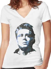 James Dean | Watercolour Painting Women's Fitted V-Neck T-Shirt