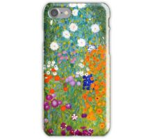 Flower Garden by Gustav Klimt Vintage Floral iPhone Case/Skin