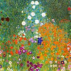 Flower Garden by Gustav Klimt Vintage Floral by GalleryGreats