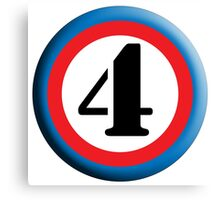 4, FOUR, ROUNDEL, NUMBER 4, FOURTH, TEAM SPORTS, Competition, Canvas Print