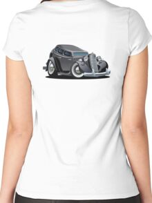 Cartoon retro car Women's Fitted Scoop T-Shirt