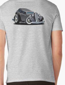 Cartoon retro car Mens V-Neck T-Shirt