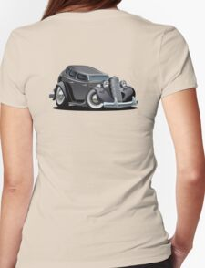 Cartoon retro car Womens Fitted T-Shirt
