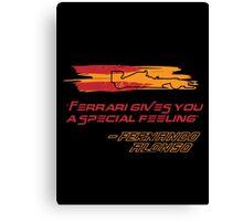 Fernando Alonso Ferrari Canvas Print