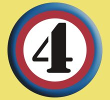 4, FOUR, ROUNDEL, NUMBER 4, FOURTH, TEAM SPORTS, Competition, Kids Tee