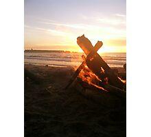 Flames Engulfing the Setting Sun Photographic Print