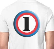 NUMBER 1, Roundel, TEAM SPORTS, FIRST, ONE, 1, Numero Uno, Competition Unisex T-Shirt