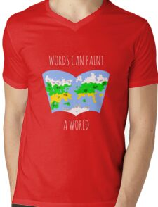 Words Can Paint A World Mens V-Neck T-Shirt