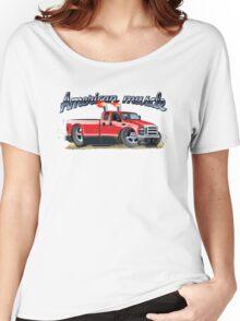 Cartoon muscle car Women's Relaxed Fit T-Shirt