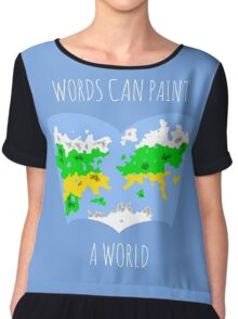 Words Can Paint A World Chiffon Top