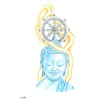 Buddha Drawing Photographic Print