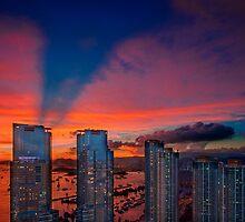 Hong Kong Union Square Sunset  by MichaelKe