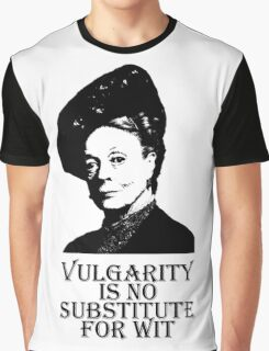 Vulgarity is no Substitute for Wit Graphic T-Shirt