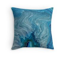 Blue Agate abstract Throw Pillow