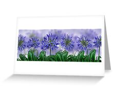 Floral home decoration. Agapanthus 6 Greeting Card