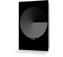 Stripes can be in a disc Greeting Card