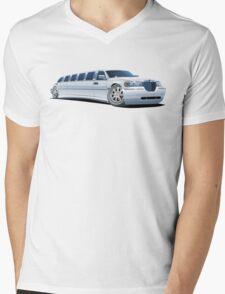 Cartoon limousine Mens V-Neck T-Shirt