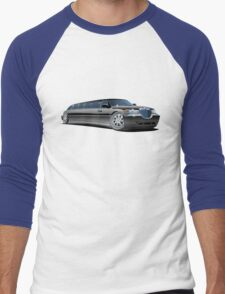 Cartoon limousine Men's Baseball ¾ T-Shirt